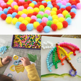 Bebek Çocuk Yaratıcı DIY Peluş Top Boyama Çıkartmalar anaokulu Çocuk Eğitim El Yapımı Malzeme Karikatür Bulmacalar El Sanatları Oyuncak nereden toptan oyuncak trompetleri tedarikçiler