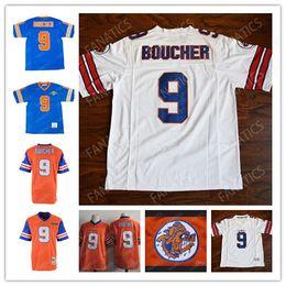 Top 9 Bobby Boucher Le maillot de football Waterboy Mud Dogs Adam Sandler Hommes # 9 Maillot Bobby Boucher Orange Blanc Bleu ? partir de fabricateur