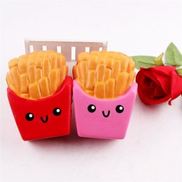 Chips de teléfonos celulares online-Chips de patata blandos Papas fritas de lento crecimiento Aliviar el estrés Pastel Dulce Teléfono celular Correa Teléfono Colgante Llavero Juguete de regalo 30 unids