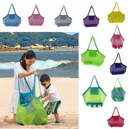 Большие раковины онлайн-Большой емкости дети пляжные сумки песок прочь сетка сумка детские игрушки полотенца оболочки собирать сумки для хранения сложить сумки AAA2014