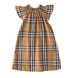 2-8 vestido da manta da menina Summer Kids'New Kids 'Bebê Cotton Double Pocket Doll Skirt de Fornecedores de roupa ocidental do bebê por atacado