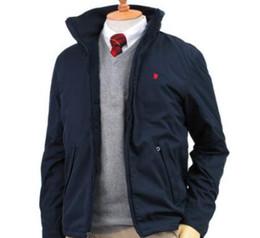 Бизнес-стенды онлайн-Бренд одежды Мужская роскошные дизайнерские пальто Pole Руно Стенд Воротник Бизнес Мода Куртка