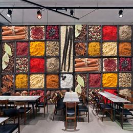 Deutschland Benutzerdefinierte 3D-Fototapete Gewürze Würzen Zutaten Rohstoffe Lebensmittel Wandmalerei Restaurant Küche Kulisse Dekor-Wand Versorgung