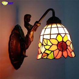 2019 klare glas lampenschirme FUMAT Wandleuchte Art Mermaid Body Glasmalerei Schirmleuchten Korridor Bar Hotel Leuchten Spiegel Frontleuchte Wandleuchte