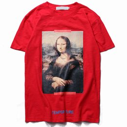 3e599d94e83b04 2019 magliette di stampa digitale mens Mens designer t-shirt off nero  bianco Mona Lisa