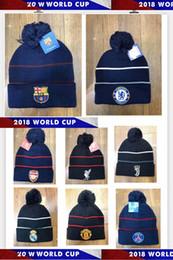 2019 vr 46 hat 2019 World Football Club Club Knit Hat Barcelona Messi 19 20 Royal Fan Hat Juventus Dortmund Gorro deportivo de alta calidad