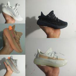 2019 bebé libre Adidas Yeezy 350 V2 Envío gratis 2019 Kids Run Shoes fashion Children Athletic Shoes baby Boys Girls Sneakers Black white size 28-35 bebé libre baratos