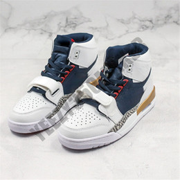 Sapatos salto desportivo on-line-Jumpman mais recente Legado 312 NRG Pure White Shoes Mens Basketball Knicks Lakers Pistons Atlético Sport Sneakers Salte o homem Designers Trainers