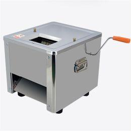 Cortador de carne online-BEIJAMEI Cortador de la máquina de cortar de alimentos eléctricos de acero inoxidable caliente Cortadora de rebanar de carne comercial comercial eléctrica