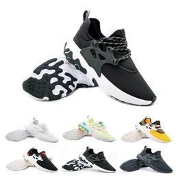 shoes flat feet men Coupons - New Style Presto Mid Epic React Men Women Running Shoes Comfortable Foot Feel Mesh Breathable Sneakers Black White Casual Shoes