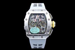 Schweizer chronograph automatisch online-Top KV Schweizer Uhren 11-03RG Titan Stahl Chronograph Bewegung 49mm Automatische Herrenuhr Uhren 1 Jahr Garantie