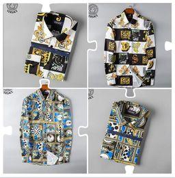 vestidos de tartán al por mayor Rebajas Venta al por mayor 2019 Nueva Marca Primavera Otoño Casual Hombres Camisa de manga larga de algodón de alta calidad formal de negocios Plaid Mens Dress Shirts Plus