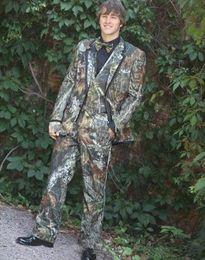 2019 moda camuflaje chaleco Moda camuflaje Men 3 piezas traje de boda esmoquin novio esmoquin muesca solapa con dos botones Hombres cena baile Blazer (chaqueta + Pants + Tie + Vest) 805 moda camuflaje chaleco baratos