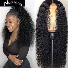Lisa cheveux en Ligne-Perruque humaine frisée Mi Lisa couleur naturelle noeuds blanchis perruque cheveux remy péruviens avant de cheveux humains