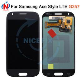 2019 samsung ace pantalla táctil Super AMOLED LCD para Samsung Galaxy Ace Ace4 4 SM-G357 G357 G357FZ LCD de pantalla táctil digitalizador rebajas samsung ace pantalla táctil