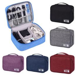 Taşınabilir Organizatör Çantası Seyahat Elektronik Aksesuarları Kablo USB Sürücü Için Taşıma çantası nereden