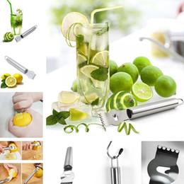 descasque de frutas Desconto Hot high quanlity aço Inoxidável casca de limão ralador Cozinha Ferramentas Frutas e Legumes Peeling Faca Ferramenta T7I5022
