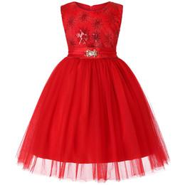 Vestido de boda de seda bordado online-Primavera nueva marca bebé niña vestido de fiesta de boda bordado de seda vestido de princesa niña bebé niños moda vestido de Navidad
