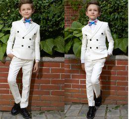 boy chaquetas de moda Rebajas Traje guapo de moda para niño Traje de dos piezas (chaqueta + pantalones) Boy Ceremonia de graduación Pantalones Fiesta de graduación de bodas Trajes para tuexdos personalizados