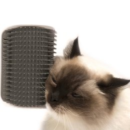 massage yiwu Promo Codes - 20PCS Cat Grooming Tool Hair Removal Brush Comb for Dogs Cats Hair Shedding Trimming Device with catnip Wall Corner Massage Comb AIJILE