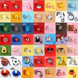 2019 auricolari per iphone .5s plus Custodia protettiva Airpods Custodia in silicone del fumetto per Apple Airpods 1/2 diversi tipi di pelle Patten per AirPod