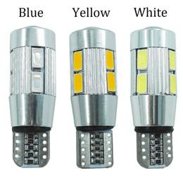 2019 automotive led glühbirnen 20 stücke aluminium körper high power automotive led licht t10 w5 w canbus 10 smd led lampe kein fehler parken / freiheit / nebelscheinwerfer / universal lampe günstig automotive led glühbirnen