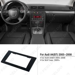 Kit de montage radio en Ligne-Kit adaptateur d'adaptateur d'installation de cadre de panneau de garniture de façade de radio 2DIN pour voiture pour AUDI A4 (B7) 2005-2008 / SEAT Exeo 2009+ # 5037