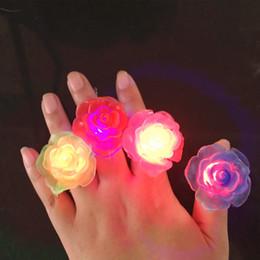 collegare l'altoparlante Sconti Anello luminoso rosa per bambini anello flash asilo asilo regalo piccolo gioielleria principessa giocattolo gioielli adorabili