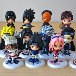 naruto sakura figures Coupons - 6pcs lot 7cm Japan Jump Comics Naruto Action Figures Kakashi Sakura Sasuke Itachi Obito Gaara PVC Toys Model Figure Dolls
