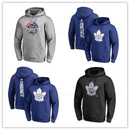 Desgaste exterior do revestimento de esporte on-line-34 # argila matthews New Hockey Jerseys dos homens de Toronto Maple Leafs marca cinza preto esporte com capuz de manga longa jaquetas de desgaste ao ar livre impresso logotipos