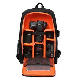 Mochila acolchada multifuncional con cámara réflex digital DSLR con cámara de cubierta de lluvia c / Funda de lluvia Estuche de video para computadora portátil con bolsa suave ... desde fabricantes