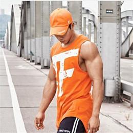 Ropa de brazo online-MUSCLE ARMED Gyms Summer Fitness Men Tank Top para hombre Culturismo Stringers Tank Tops Singlet Marca de ropa de los hombres sin mangas de la camisa
