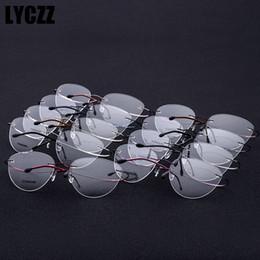 LYCZZ Donne Cat Eye Ottica Senza Montatura In Titanio Occhiali Da Vista Frames Occhiali Da Vista Da Uomo Occhiali Trasparenti occhiali telaio oculos de grau da