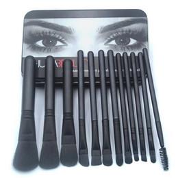 2019 grünes make-up Die Fabrik 12 Make-up-Pinsel-Set Lidschattenpinsel tragbaren Make-up Make-up-Tools Großhandel