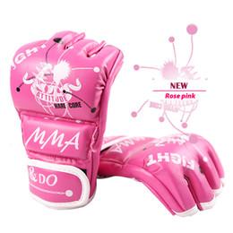 2019 luvas de luvas de soco Luvas de MMA Mulheres Grappling Martial Arts Sparring Punching Bag Ladies gaiola de combate Maya Esconder Couro Mitts Meninas Combate Y191202 desconto luvas de luvas de soco