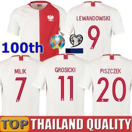 tazze speciali Sconti 2019 Polonia maglie calcio Edizione Speciale 100 ° anniversario 19 20 Polonia Milik LEWANDOWSKI Piszczek europee tazza di calcio Camicia uniformi