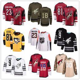 phil kessel usa jersey Rebajas camisetas de hockey de encargo de Arizona Coyotes Jersey Ekman-Larsson Raanta Clayton Keller Darcy Kuemper Cristiano Dvorak Phil Kessel EE.UU. Moda