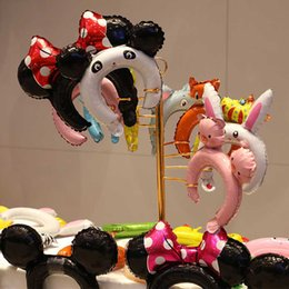 Toptan Süper Sevimli Balon Kafa Karikatür Helyum Balon Hayvanlar Örümcek Adam Parti Doğum Günü Noel Için Freeze Alüminyum Folyo Balon nereden uzun balonlar hayvan tedarikçiler
