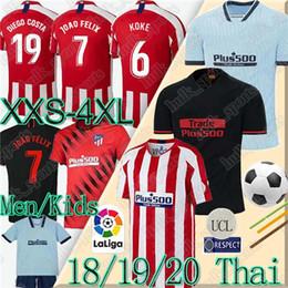 camisetas de fútbol tailandés 19 20 JOÃO FÉLIX Atlético de Madrid de fútbol de los jerseys 2019 2020 KOKE Diego Costa Griezmann camiseta de Fútbol LLORENTE desde fabricantes