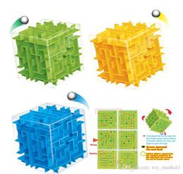 bolas de labirinto Desconto Quebra-Maze Cubo Mágico Brinquedos Mini velocidade Cube Puzzles Labyrinth Bola Rolando Cubos Magicos Toy Aprendizagem para Adultos Chilren