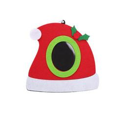 Tavolo per foto online-3 stili foto Folder Fashion Natale Photo Frame multifunzione Albero ornamenti casa tavolo decorazioni di Natale per il partito HH9-A2574