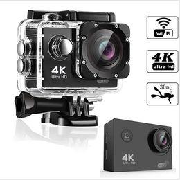 Ultra HD 4K Spor Eylem Kamera 30m WIFI Su geçirmez Video Kamera 16MP 1080P 2.0 inç LCD Kask Kamera Dalış Kaydedici nereden orijinal xiaomi yi kamera tedarikçiler