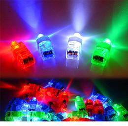 magie grandes illusions Promotion Lampe de doigt à LED cadeaux d'anneau de doigt à LED Lumières Glow Faisceaux de doigts au laser Bague clignotante Party Flash Kid Jouets 4 couleurs D0442