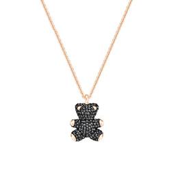 черные плюшевые мишки Скидка Роскошные ювелирные изделия конструктора ожерелья Teddy Bear Ожерелье Розовый Черный Белый Красный 4color 3D Медведь Полный Алмазный Iced Out Pendent