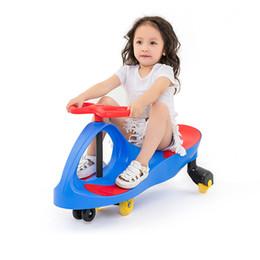 Scivoli di swing online-Bambino Twist Car Swing Car Upgrade Scivolamento scorrevole Baby Yo Baby Walker Anti-rollover per il tempo libero 3-8Y