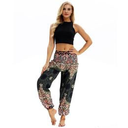 Jumpsuit calças folgadas on-line-ISHOWTIENDA 2019 Homens Mulheres calças grandes jumpsuit Casual Calças Yoga solto Hippy Baggy Boho Aladdin Harem Pants casal #