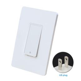 2019 interruttore a parete di automazione domestica Smart Wifi Switch Smart Home Applique da parete Interruttore WIFI Telecomando elettrico Home Automation APP Telecomando Android interruttore a parete di automazione domestica economici