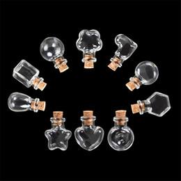 Argentina Mini botellas de vidrio colgantes pequeñas botellas de bricolaje con corcho tarros lindos regalos de boda de Navidad frascos botellas 100 unids Suministro