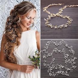 Canada Cheveux vigne Coiffe de mariée Cristal Perle Dames Fantaisie Bandeau Longue Chaîne Partie Casque supplier fancy long chain Offre