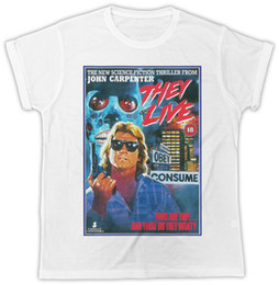 Argentina COOL THEY LIVE MOVIE POSTER IDEAL GIFT PRESENTES UNISEX RETRO COOL TSHIRT Tamaño Discout Hot New T-shirt Denim Clothes Camiseta T Shirt cheap movies poster Suministro
